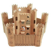 Smartkitz Cardboard Pet Castle And Bailey Small