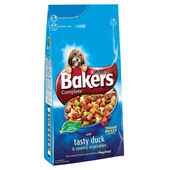Bakers Complete Duck & Veg Adult Dry Dog Food With Meaty Chunks