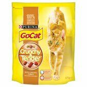 5 x Go-cat Crunchy And Tender Chicken Turkey & Veg 375g