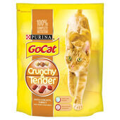 4 x Go-cat Crunchy And Tender Chicken Turkey & Veg 800g