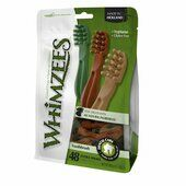 6 x Whimzees Toothbrush Extra Small 7 Cm 48pk