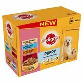 12 x 100g Pedigree Meat & Rice In Jelly Wet Puppy Food
