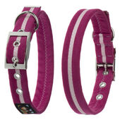 Oscar & Hooch Collar Medium Hot Pink