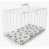Penine White Wire Dog Carrier Rectangular Pet Cage