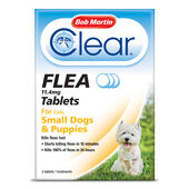 6 x Bob Martin Clear Flea Cats & Small Dogs 3 Tablets