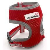 Red Doodlebone Reflective Air Mesh Dog Harness