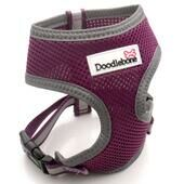 Purple Doodlebone Reflective Air Mesh Dog Harness