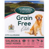 10 x Nature's Harvest Grain Free Elite Salmon & Sweet Potato 395g