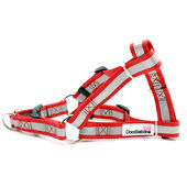 Doodlebone Reflective Bold Tape Harness Red