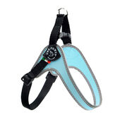 Tre Ponti Fibbia Small Dog Nylon Harness Light Blue