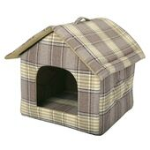 Animate Zip Up Dog House - Tweed Green 18
