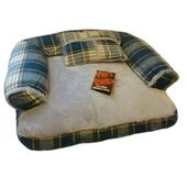 Sofa With Cushion Zip Cover Tweed Blue