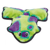 Outward Hound Invincibles Frog Green/purple 4 Squeaker