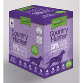3 x Natures Menu  Country Hunter Dog Adult Pouch Turkey 6x150g