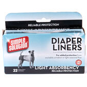 Simple Solution Dog Diaper Liners 22pk