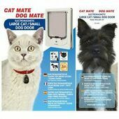 Cat Mate Electromagnetic Pet Flap Large Cat/small Dog White
