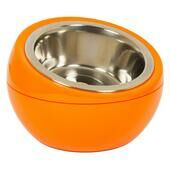The Dome Dog & Cat Pet Feeding Bowl - Orange
