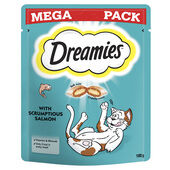 Dreamies Cat Treats With Salmon Mega Pack 180g