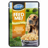 15 x HiLife Feed Me Something Special Chicken Casserole With Peas & Carrots 100g