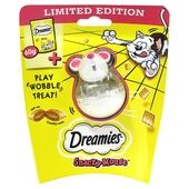 Dreamies Snacky Mouse Treat Toy With Cheese Treats 60g
