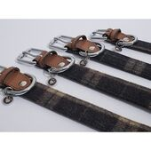Luxury Leather Collar Tweed Check 1