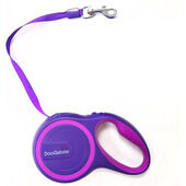 Doodlebone Rambler Retractable Tape Lead Two Tone Purples 25kg - 5m