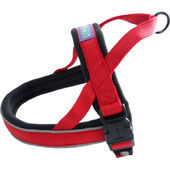 Dog & Co Nylon Norwegian Harness Reflective Padded Red