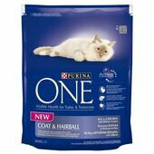 4 x Purina One Coat & Hairball Rich In Chicken & Whole Grains 800g