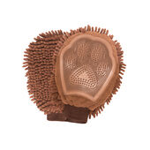 Nano Pet Products Dog Gone Smart Dirty Dog Grooming Mitt Brown