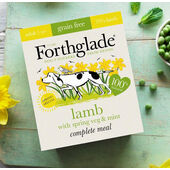 7 x Forthglade Complete Grain Free Adult Lamb Spring Veg & Mint 395g