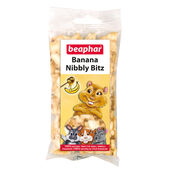 12 x Beaphar Small Animal Banana Nibbly Bitz Treats 50g