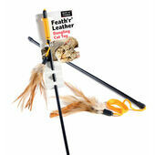 Sharples 'N' Grant Ruff 'N' Tumble Feath 'R' Leather Dangling Cat Toy