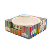 Pet Brands Paw Print Ceramic Dog Dish Bowl