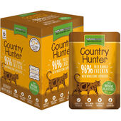 3 x Country Hunter Chicken & Heart Adult Wet Cat Food - 6 x 85g Pouches