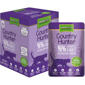 3 x Country Hunter Turkey & Rabbit Adult Wet Cat Food - 6 x 85g Pouches
