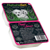 18 x 280g Naturediet Puppy / Junior Chicken & Lamb With Vegetables & Rice Wet Food