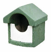 C J Wildlife Woodstone Green Open Nest Box - Small (FSC Certified)