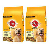 2 x 12kg Pedigree Vital Protection Adult Chicken & Veg Dog Food Multibuy