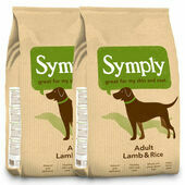 2 x 12kg Symply Adult Lamb & Rice Dry Dog Food Multibuy