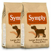 2 x 12kg Symply Large Breed Puppy Turkey & Rice Junior Dog Food Multibuy