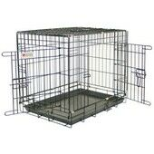 Dog Crate and tray - Powdered Black