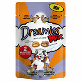 8 x 60g Dreamies Cat Treats Mix With Chicken & Duck