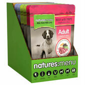 8x300g - Natures Menu Meaty Multipack Adult Wet Dog Food Pouches
