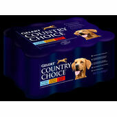 12 x 400g Gelert Country Choice Tripe Mix Wet Dog Food Variety Pack