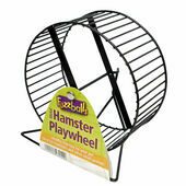 Fuzzballs Metal Hamster Play Wheel & Stand