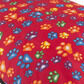 The Pet Express Red Multi Coloured Paws Luxury Dog Duvet additional 2