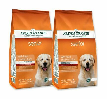 2 x 12kg Arden Grange Senior Chicken & Rice Dry Dog Food Multibuy - 24kg