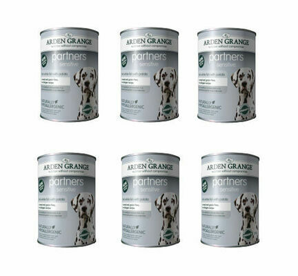6 x Arden Grange Partners Sensitive Fish & Potato Wet Dog Food