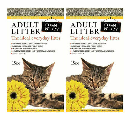 2 x 15kg Clean 'N' Tidy Everyday Clumping Cat Litter Multibuy