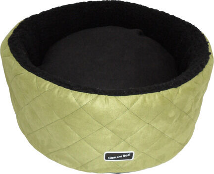 Hem & Boo High Sided Round Luxury Cat Bed - Apple & Black
